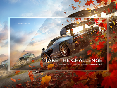 Forza Horizon - Concept Design preorder uidesign games cars upcoming games racing videogame game gaming forza horizon julius branding alphadesign ui germany designs design clean 2021 trend 2021 design 2021