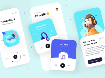 Music App - Mobile Design Concept music trendy modern design friendly modern mobile design mobile app design mobile ui mobile app mobile ux minimal julius branding alphadesign designs design clean 2021 trend 2021 design 2021