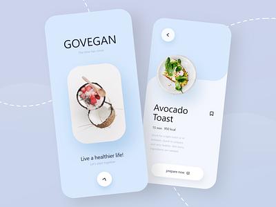 GOVEGAN App - Mobile Design health vegan foodie food food app mobile design mobile app design mobile ui mobile app mobile julius branding minimal alphadesign germany designs design clean 2021 trend 2021 design 2021