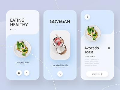 GOVEGAN App - Mobile Design healthy health food and drink food app food mobile design mobile app design mobile ui mobile app mobile minimal germany julius branding alphadesign designs design clean 2021 trend 2021 design 2021