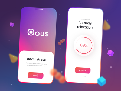 Relaxation App - Design Concept relax trend apps 2021 trend design trendy trend design design trends modern mobile mobile design modern design modern ui logo illustration alphadesign design designs clean 2021 trend 2021 design 2021