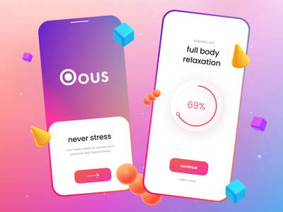 Relaxation App - Mobile Design trends 2021 trends sport app sports app sports sport design app trends mobile trends mobile modern ui logo illustration alphadesign design designs clean 2021 trend 2021 design 2021