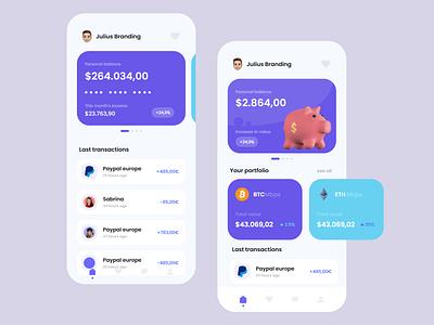 Banking App - Mobile Design Concept online banking bank money julius branding trends trendy ux modern banking mobile ui logo illustration alphadesign design designs clean 2021 trend 2021 design 2021