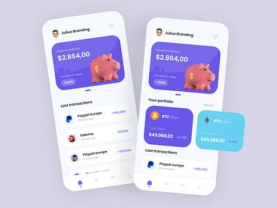 Mobile Banking App Design up to date winter 2022 shiny ux online banking banking app banking trendy modern ui logo illustration alphadesign design designs clean 2021 trend 2021 design 2021