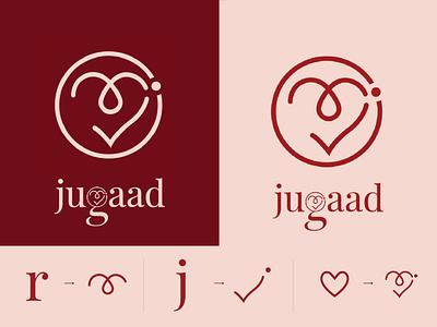 LOGO DESIGN | JUGAAD | CLOTHING LABEL dribble visualcommunication graphicdesign creative clothingbrand creativelogo minimallogo photoshop illustrator brandidentity branding logodesign logo