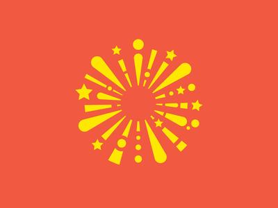 Firework Logo entertainment events stars firework illustration concept design sign graphic simple identity logo