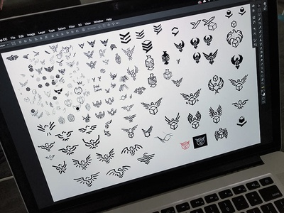 Sketches sign symbol eagle work in progress wip process sketches identity graphic concept logo