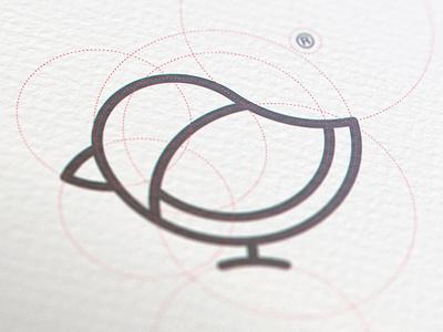Bird mark grid grid branding bird illustration animal design concept simple sign graphic identity logo