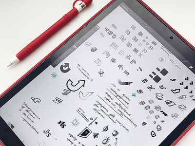 Sketches process ipad procreateapp procreate sketch wip design graphic identity concept illustration logo