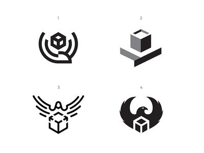 Variants line process vector bird animal icon branding illustration wip simple sign design graphic concept identity logo