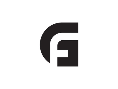 GF Monogram vector process icon letter typography branding illustration wip design sign graphic logo identity concept