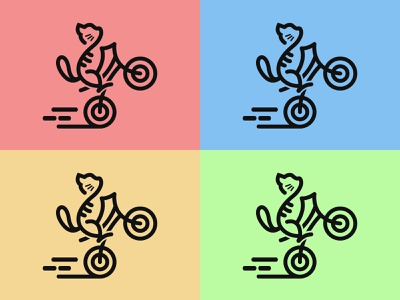 Bicycle Cat identity animal graphic design logo design logo illustration design branding cat online shop product bike bicycle