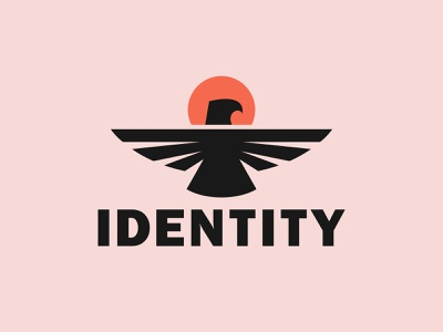 Flying Eagle logo vector simple branding illustration logo design fly sun identity abstract eagle