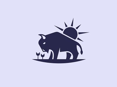 Bison graphic design logo design branding design logo illustration ill america animal bison