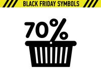 Black Friday Symbol Basket Sale Discount