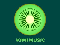 Kiwi Music Piano Keyboard Logo