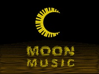 Moon Music Piano Keyboard Logo