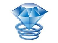 Blue Crystall Ring Logo Icon
