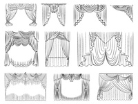 Curtain Drapery Set