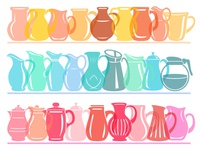Jug colorful shelf