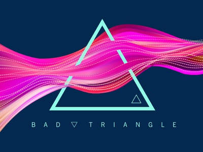 Wave Triangle Mesh Flow abstract gradient wave grid mesh pink flow