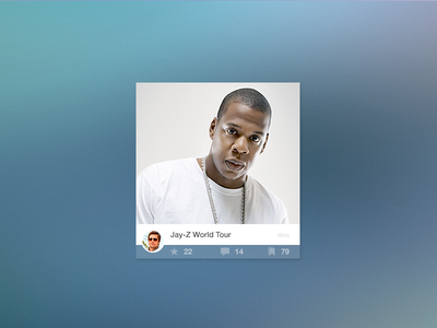 Image Post of Jay-Z flat ui profile picture post card blur transparent web timestamp modal