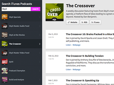 Progress... podcast audio listen player directory itunes