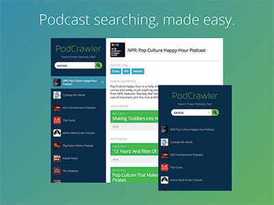 Podcast searching, made easy podcast audio listen player directory itunes