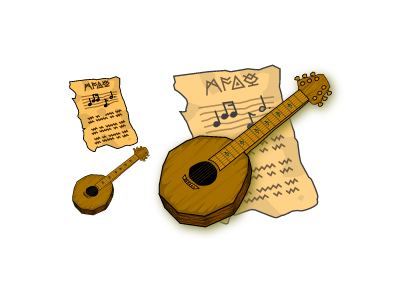 from 8 years ago... guitar wood vector paper symbols music