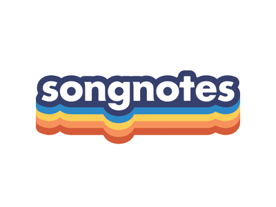 Songnotes rainbow logotype songnotes rainbow