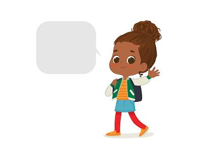 Girl vector illustration vector illustration graphic school girl school walking girl character