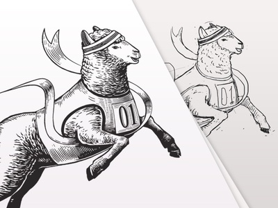 Vittorio the Sheep. Label Illustration. Engraving Style. foxyimage animal art animals black and white label illustration label packaging vector illustration vector engraving