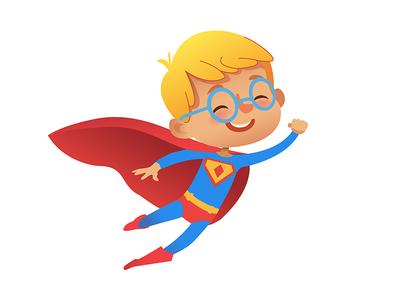 Superhero boy party illustration boy kid costume superhero
