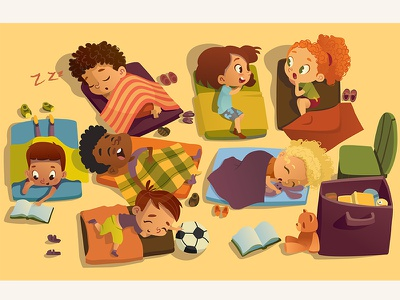 Nap Time In Kindergarten sleeping bag boys girls gossip preschool kids sleeping kindergarten nap time nap