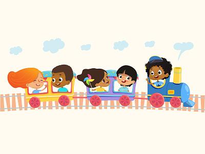 Funny Train children funny train kids