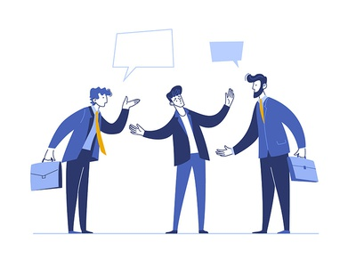 Conflict vector business illustration angry illustration communication negotiation busines conflict