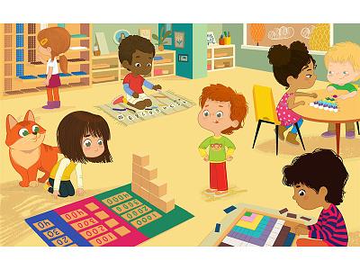 Montessori Math kindergarten mathematics math montessori activities classroom book illustration early childhood education preschool kids preschool school kids foxyimage children illustration montessori