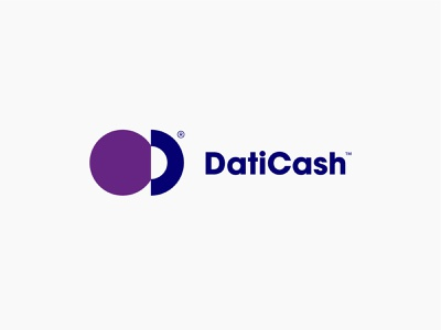 DatiCash® c d minimal logo coin money wallet ewallet cash