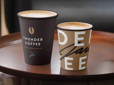 ThunderBolt Coffee packaging coffee branding