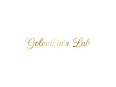 Golovihin`s Lab logo vector typography illustration graphic design branding logo