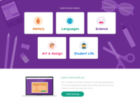 Children's learning website UI
