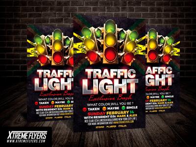Traffic Light Flyer Template by Matteo Gianfreda - Dribbble