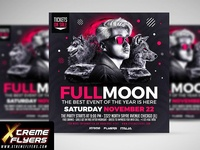 Fullmoon Flyer Template
