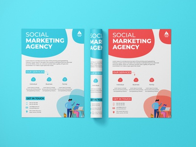 Clean Minimal Corporate Flyer Design marketing material marketing leaflet design leaflet one pager corporate corporate flyer flyer minimal illustration design