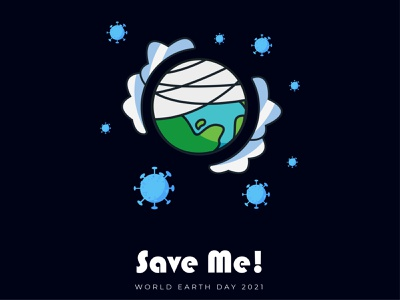 Earth Day 2021 art t shirt design vector blue t shirt poster illustration flat earth day earth