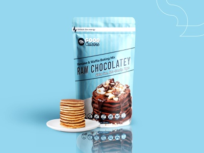 Pancake Packaging Design - Raw Chocolatey makeyourown freelancework freelancer freelance designer printdesign branding cmyk prints graphics gr pancake modern simple productpackaging packaging product