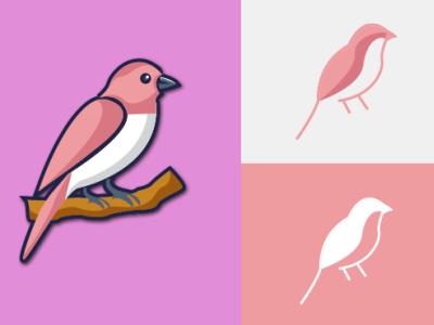 Bird Minimalistic logo mascotlogo vector typography illustrator branding design illustration animal logo minimalist logo minimal minimal logo logo