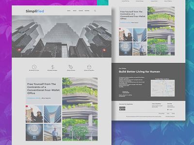Architecture Website Template website web ux branding ui logo illustration design mobile app design webdesign website design uiux architecture website