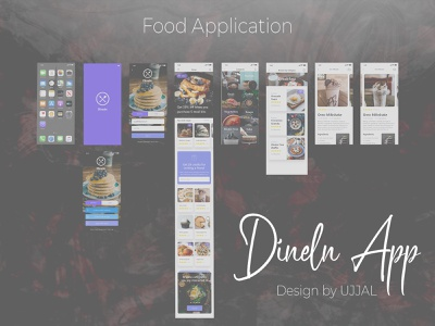 Food Application ( Dineln ) web logo app webdesign branding ux uiux ui mobile app design