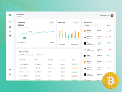 Crypto currency dashboard UI/UX design. ui ux dashboard dashboard ui orange green clean design moderm dashboard crypto ui ux blockchaon dashboard blockchain crypto dashboard crypto currency crypto currency dashboard crypto bitcoin